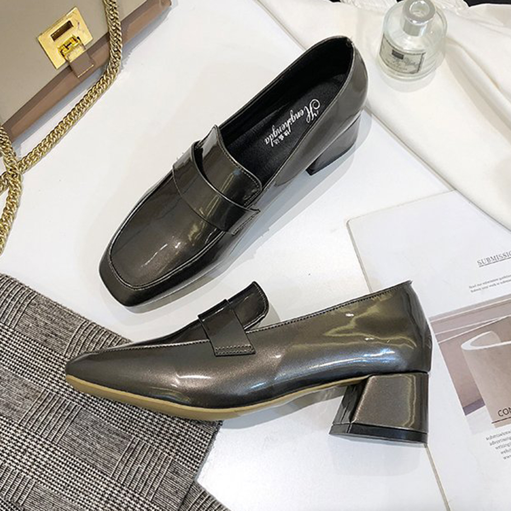 KEITH-WILL時尚鞋館 搶鮮購進口彩金編織粗跟鞋-銀色