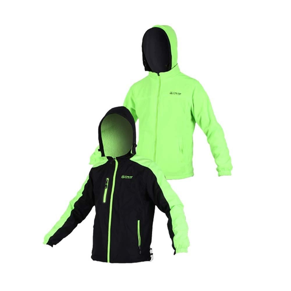 FIRESTAR 男雙面穿夾克-連帽外套 保暖外套 J5252-63 黑螢光綠