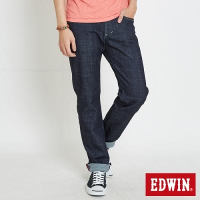 EDWIN EDGE LINE 蔥線袋花 中直筒牛仔褲-男-原藍色