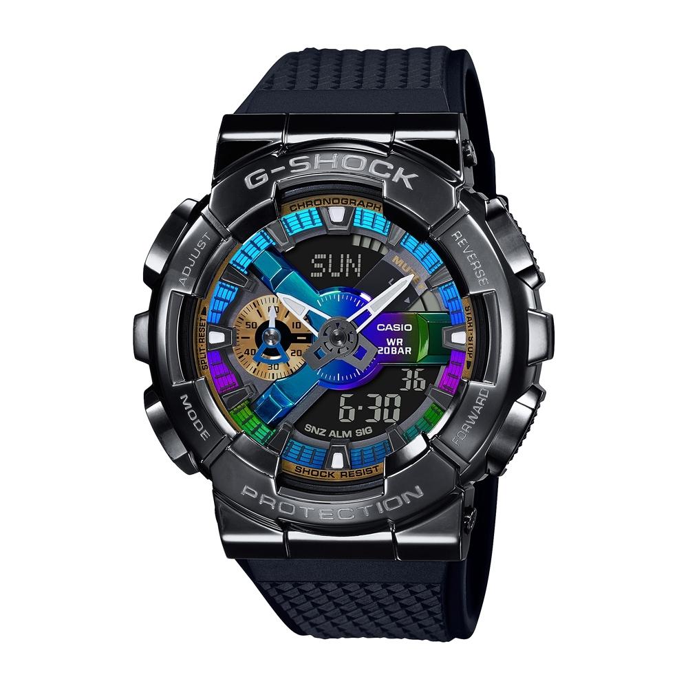 CASIO卡西歐 G-SHOCK 全金屬外殼 色彩錶盤 GM-110B-1A_48.8mm
