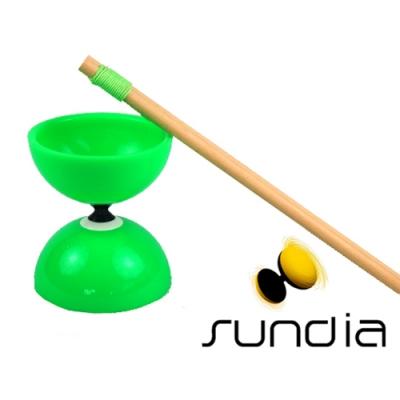 三鈴SUNDIA-台灣製造FLY長軸培鈴扯鈴(附木棍、扯鈴專用繩)綠色
