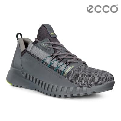 ECCO ZIPFLEX M 酷飛運動撞色戶外休閒鞋 男鞋灰色