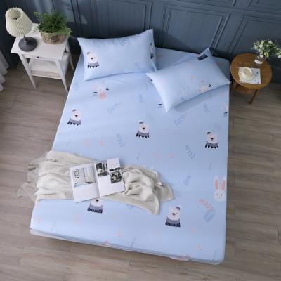 岱思夢   雙人天絲床包枕套三件組(3M專利吸濕排汗技術) 芬芳舞姿-藍