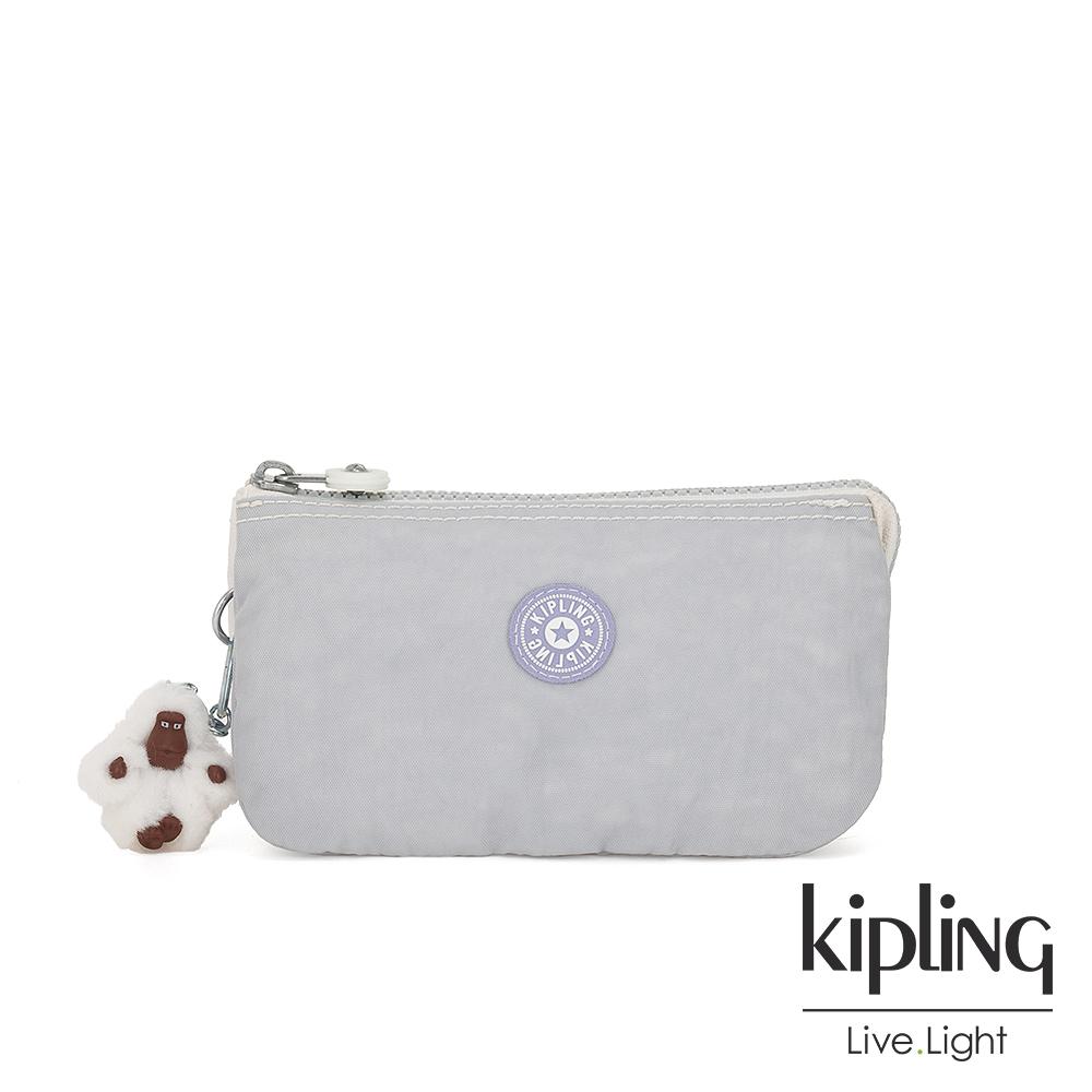Kipling 法式丁香紫三夾層配件包-CREATIVITY L