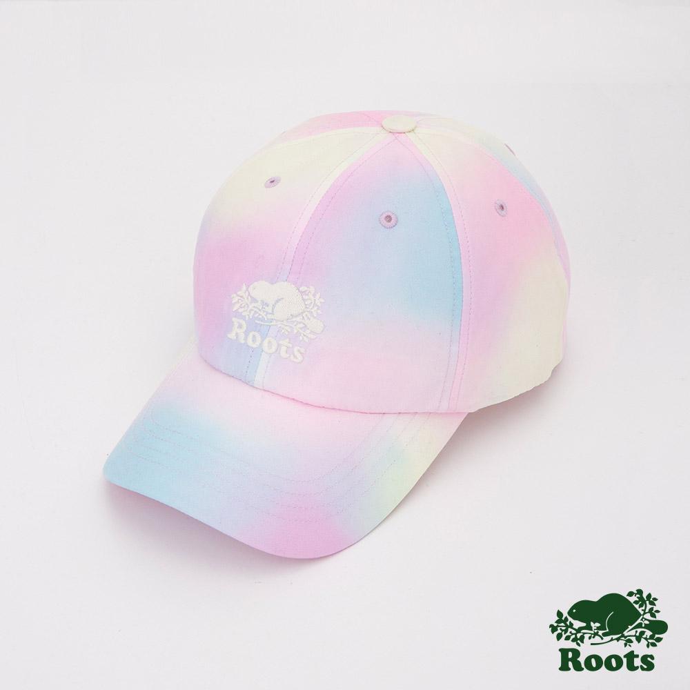 Roots配件- 彩色暈染棒球帽-拚