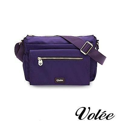 Volee好旅行系列多層拉鍊肩背包-法國紫