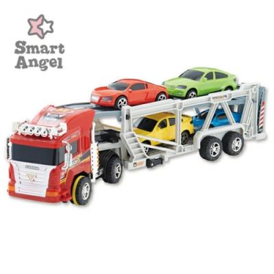 西松屋 Smart Angel  聯結拖車玩具-附4輛小車