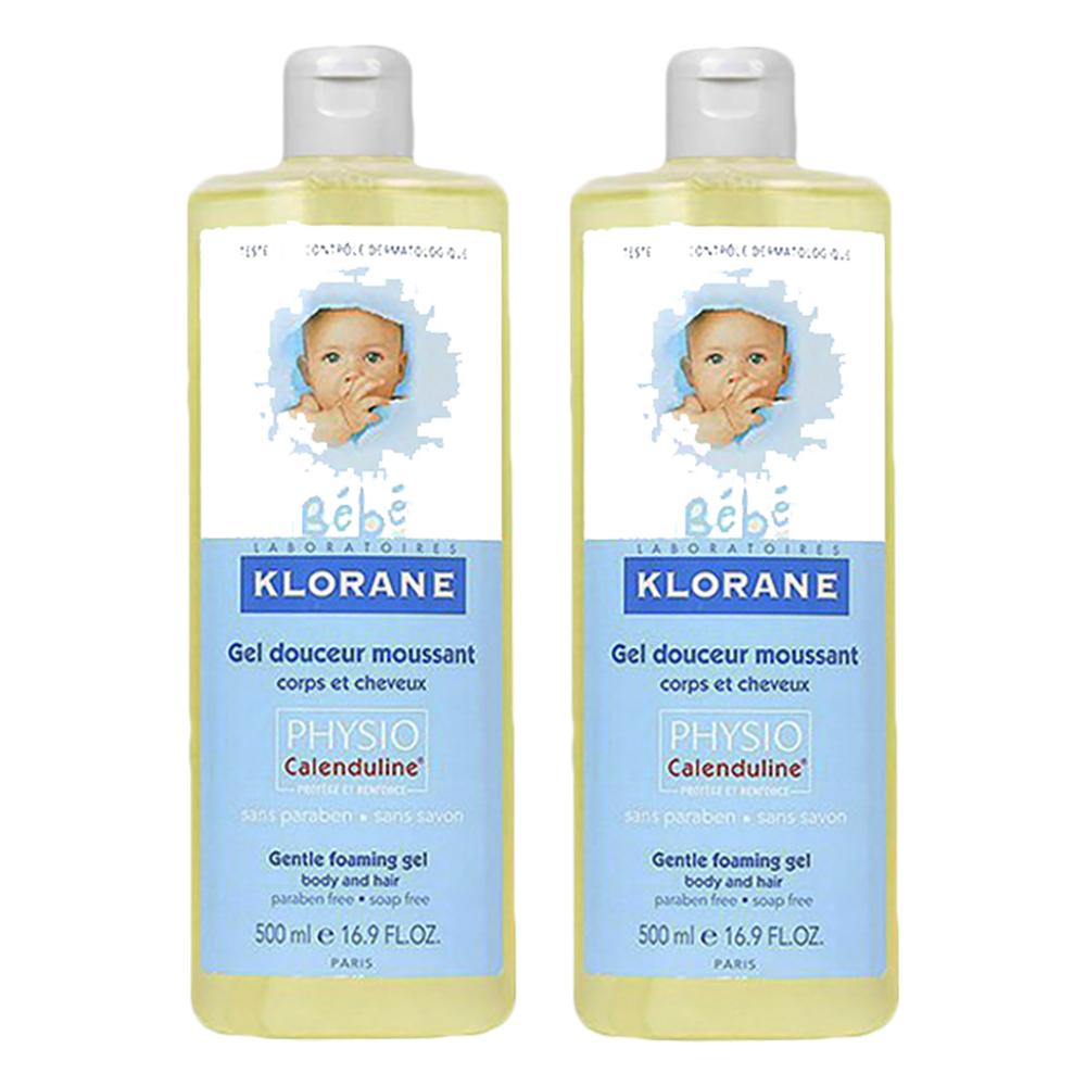 Klorane蔻蘿蘭 寶寶洗髮沐浴精 500ml*2 傾倒式包裝