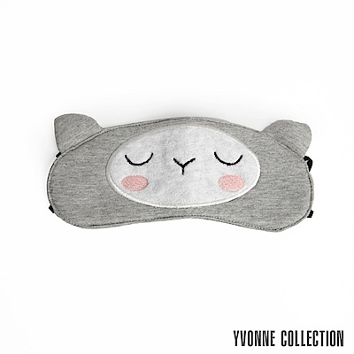 Yvonne Collection 羊駝眼罩-淺灰