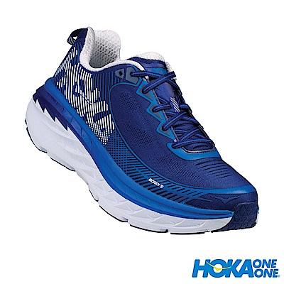 HOKA ONE ONE 男 Bondi 5 路跑鞋 藍