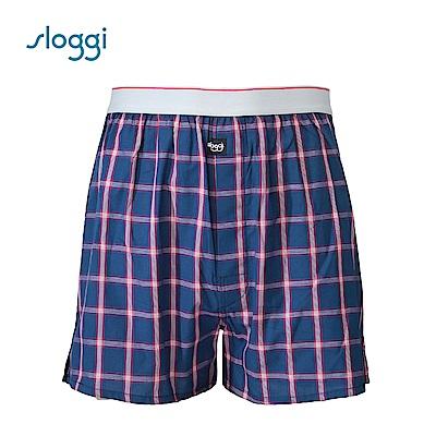 sloggi men Vacation系列寬鬆平口褲 紳士藍 G918718 B5