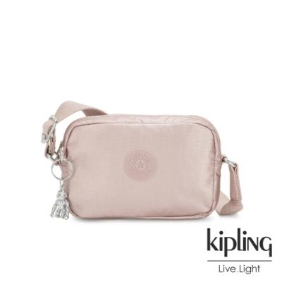 Kipling 個性玫瑰金斜側背相機包-SOUTA