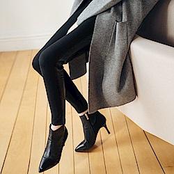 IREAL 莞美下身-側邊接皮美腿窄管褲