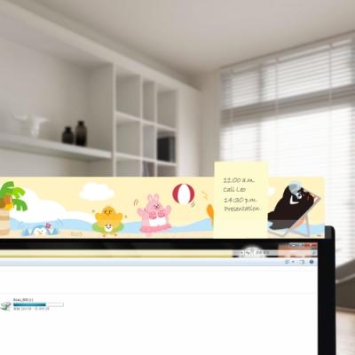 OSHI歐士 電腦螢幕留言備忘板- BEACH