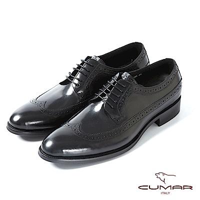 CUMAR英式牛津 復古質感正式皮鞋-黑
