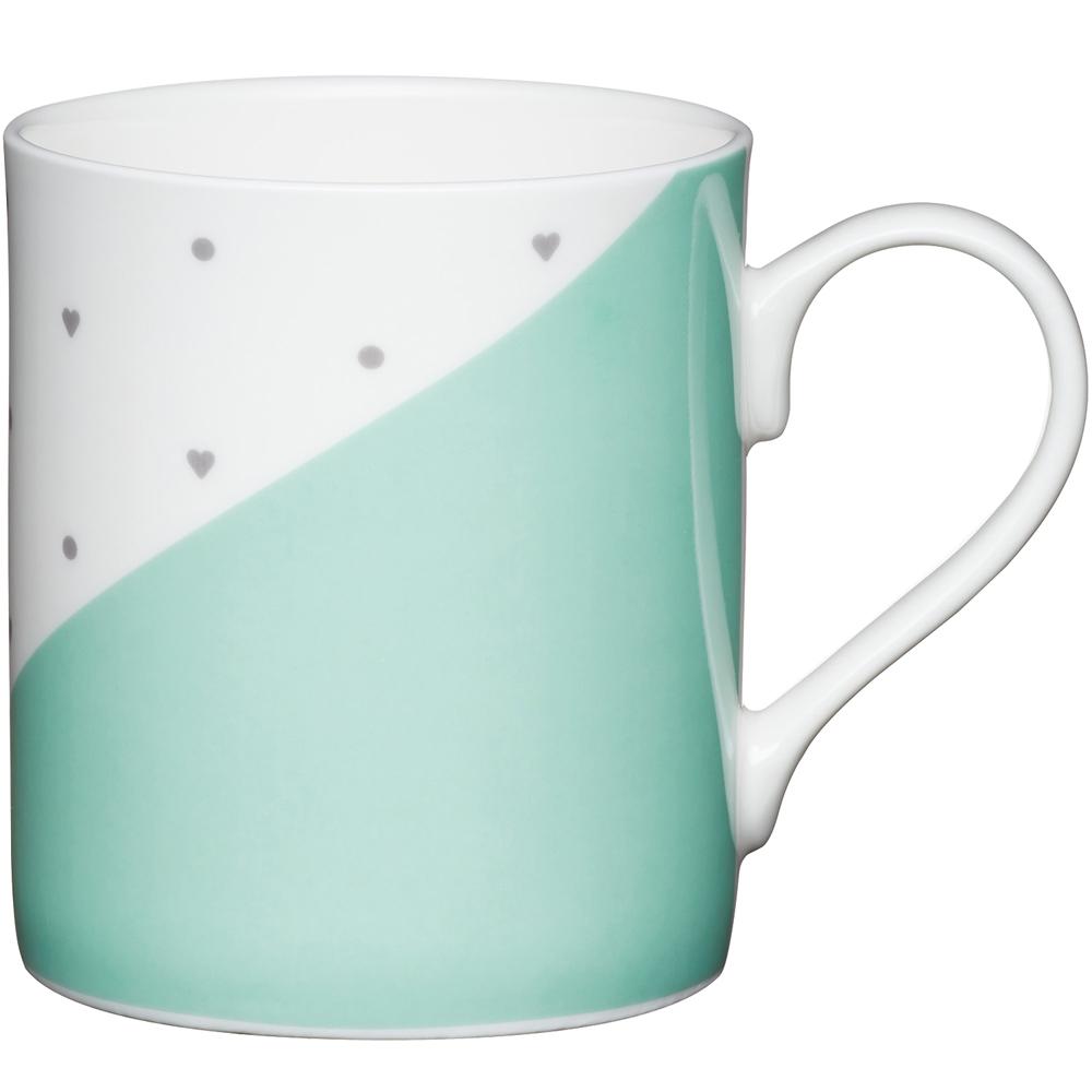 《KitchenCraft》骨瓷馬克杯(綠250ml)
