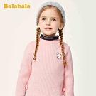 兔兔繡標側蝶結針織毛衣-女(2色)