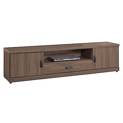 文創集 莉可時尚6.1尺木紋電視櫃/視聽櫃-182x40x48cm免組