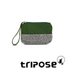 tripose漫遊系列岩紋x微皺尼龍多功能手拎袋(小)草綠