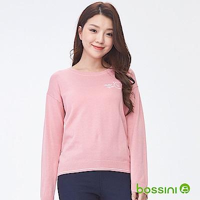bossini女裝-圓領針織線衫02嫩粉