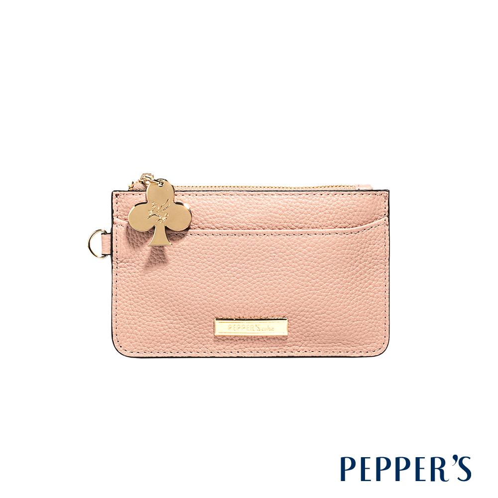 PEPPER`S Doris 牛皮鑰匙卡夾包 - 玫瑰粉
