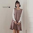 東京著衣 百褶袖條紋魚尾裙洋裝-S.M(共一色)