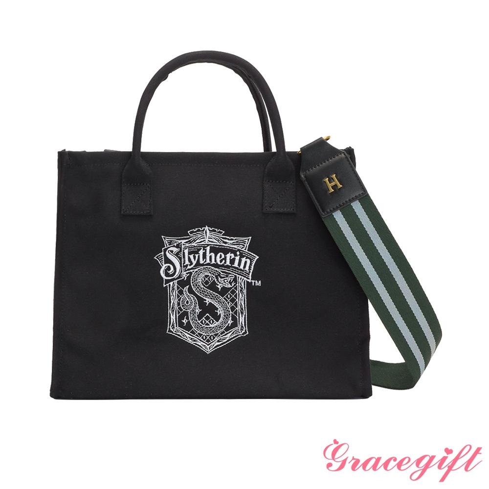 Grace gift-哈利波特史萊哲林寬帶托特包 黑