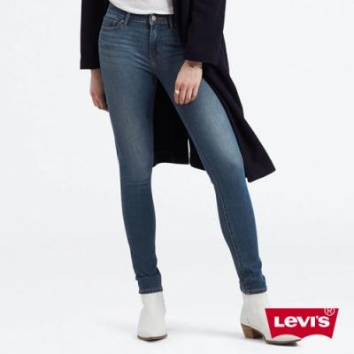 Levis 女款 711 中腰緊身窄管牛仔褲 四向彈性延展 中藍水洗