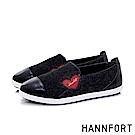 HANNFORT CALIFORNIA輕彈愛心休閒鞋-女-黑