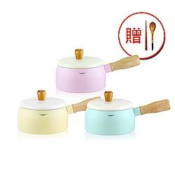 WOKY沃廚 台灣製日式木柄多功能牛奶鍋15CM
