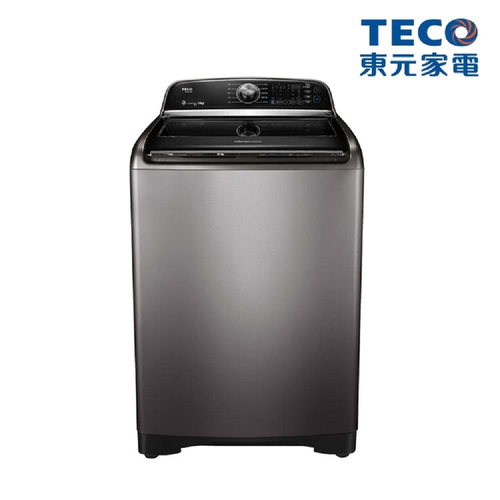 TECO東元 ★贈限量24CM不沾鍋 18KG 直驅變頻洗衣機 W1801XS