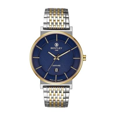 Bentley 賓利 ELITE系列 Gentle Glamour系列 簡約手錶-藍x金銀/40mm