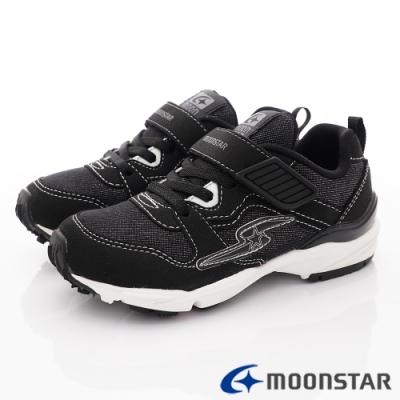 日本月星頂級童鞋 四大機能運動鞋款 NI716黑(中大童段)