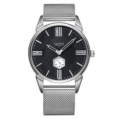 YAZOLE 亞卓倫432-至尊風範-低調不凡簡約主義手錶(2色任選)