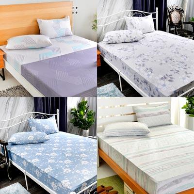 天絲床包均一價~Saint Rose 吸濕排汗天絲枕套床包組