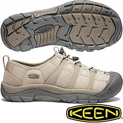 KEEN 1020873淺灰棕 Riverport 男水陸兩用護趾鞋 溯溪鞋
