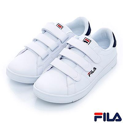 FILA #水果蘇打 中性款潮流復古絆帶鞋-丈青 4-C605S-100