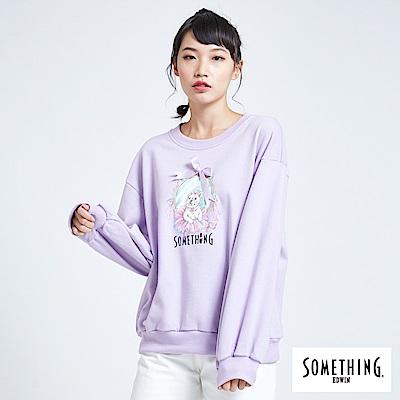 買一送一 BONBON法鬥哥 芭蕾綁結 厚長袖T恤-女-粉紫