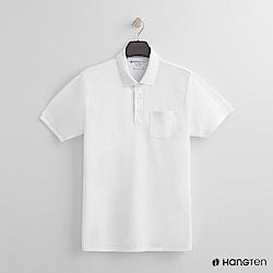 Hang Ten - 男裝 - 素面口袋POLO衫 - 白