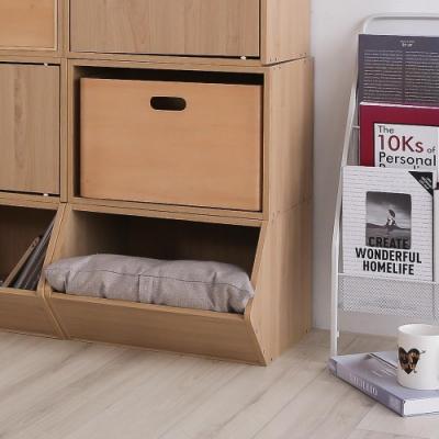 樂嫚妮 收納櫃/置物櫃/玩具櫃-楓木色3入組-42X28.2X27.6cm