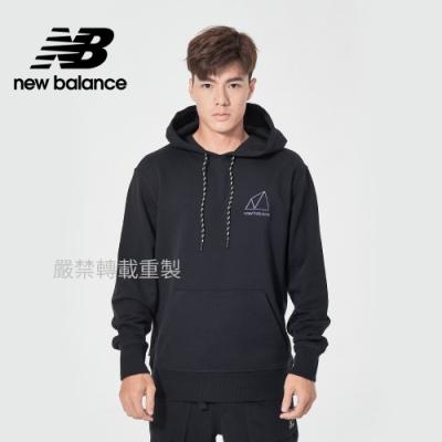 [New Balance]連帽長袖上衣_男款_黑色_AMT11581BK