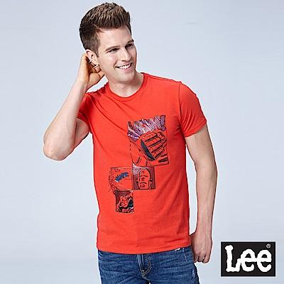 Lee LEE X MARVEL聯名短袖圓領TEE/MARVEL-熔岩紅