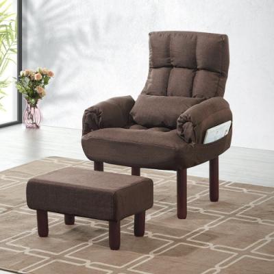Bernice-希瑞休閒單人座布沙發(附贈腳椅)