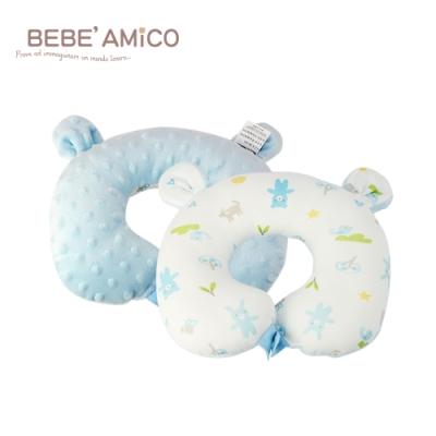 BEBE AMiCO-貝貝豆雙面造型頸枕(粉/藍)