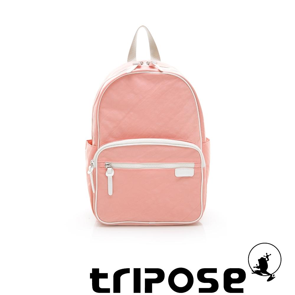 tripose PIPE系列滾邊後背包 淺粉