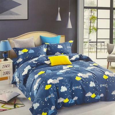 3-HO-雪紡棉 單人床包/枕套 二件組-雨季
