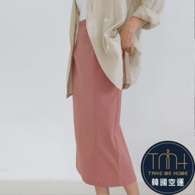 韓國空運 鬆緊棉料半身裙-3色-TMH