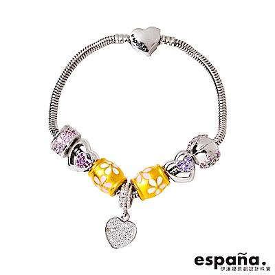 ESPANA伊潘娜 愛的對白黃金/純銀/琺瑯串珠手鍊