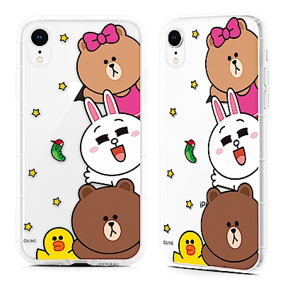 GARMMA LINE FRIENDS iPhone XS Max 防摔保護軟殼 燦爛友情