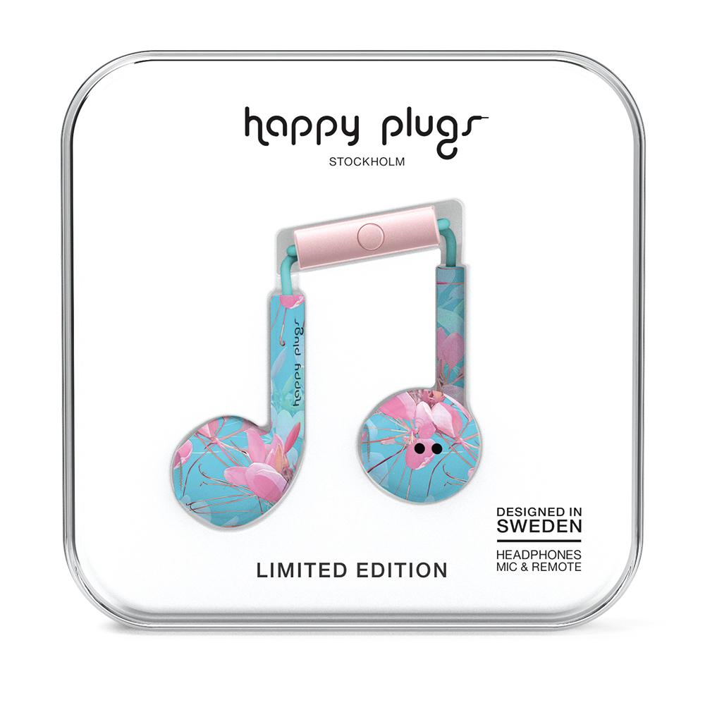 Happy Plugs極致耳塞式耳機 - Botanica Exotica異國花卉戀